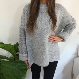 Love + Harmony Free People Grey Knit Sweater